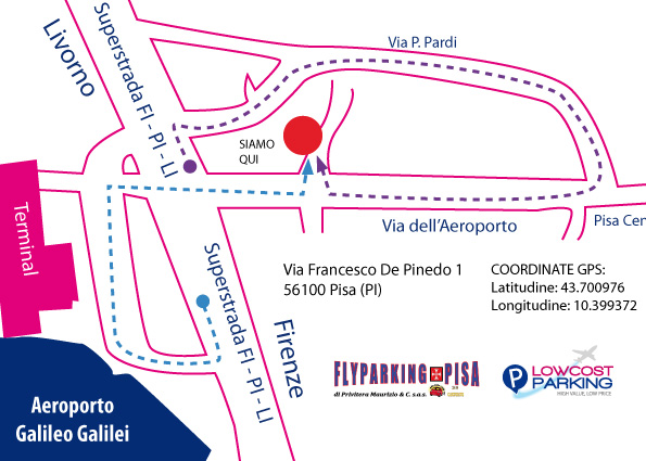 Lowcost Parking Pisa Map